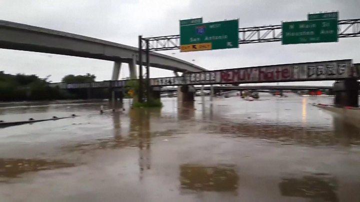 Storm Harvey: Houston battles 'unprecedented' floods