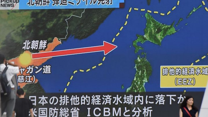 North Korea Fires Missile Over Japan In Unprecedented Threat - Japan map questions