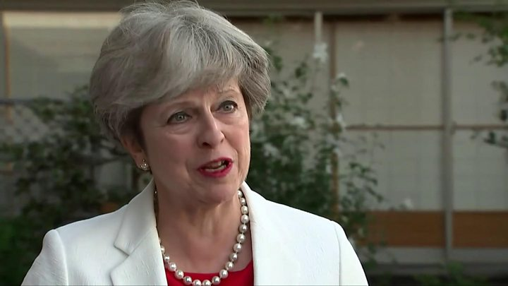 Theresa May vows to lead Conservatives into next election