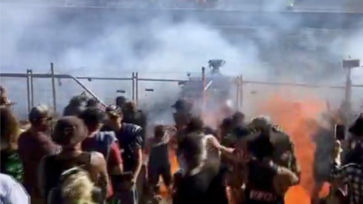 Burning fuel hits crowd at Australian drag-racing event