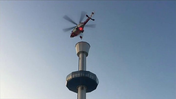 Coastguard Airlifts 13 People Trapped on 174ft Weymouth Viewing Tower