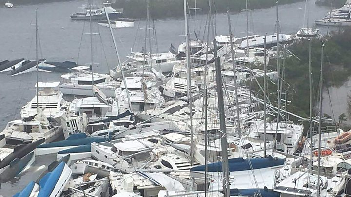 Irma tears through US Virgin Islands
