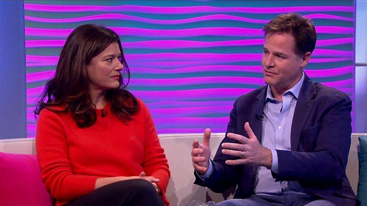 Nick Clegg reveals son's cancer diagnosis