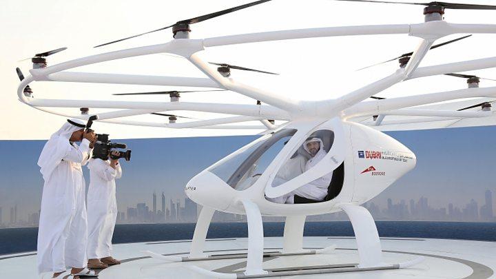 """دبي تختبر """"أول طائرة أجرة بدون طيار في العالم"""""""