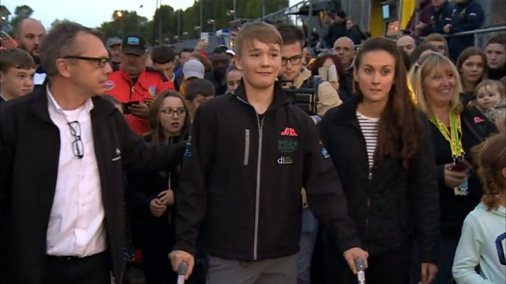 Billy Monger: Amputee teen racer walks Brands Hatch circuit