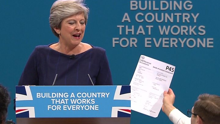 Theresa May speech prank prompts security review