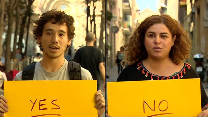 Voters in Catalonia explain why their reasons for backing or rejecting independence