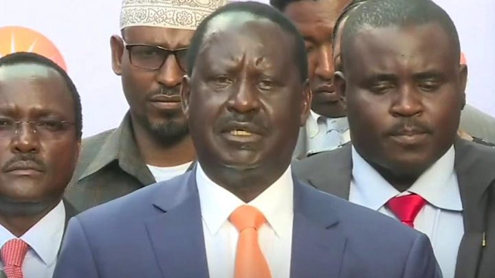 Raila speaks after Chebukati expressed doubt on a credible repeat election