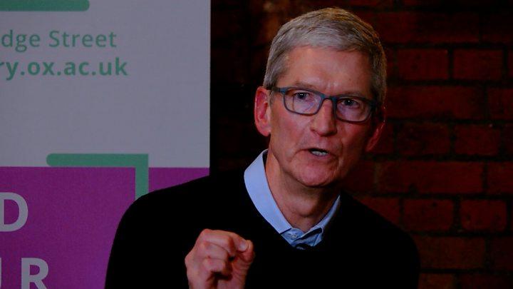 ab70e18e6 Apple's Tim Cook prefers augmented reality to VR - BBC News
