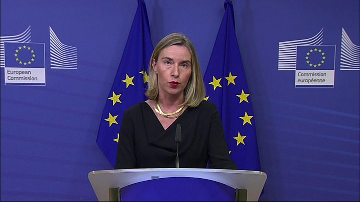 EU foreign policy chief Federica Mogherini said Iran was implementing the deal