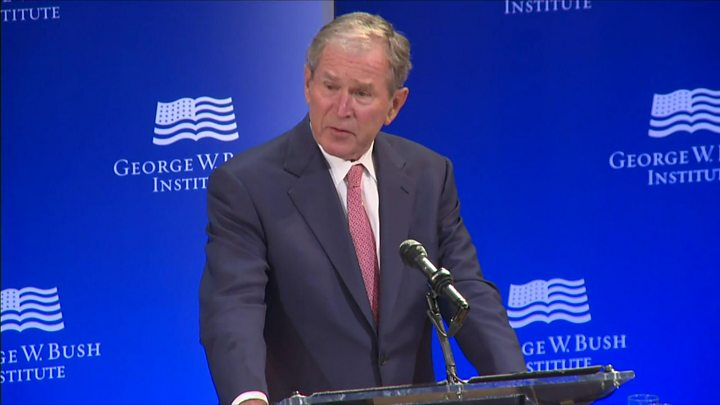 Decoding Bush's thinly veiled Trump speech