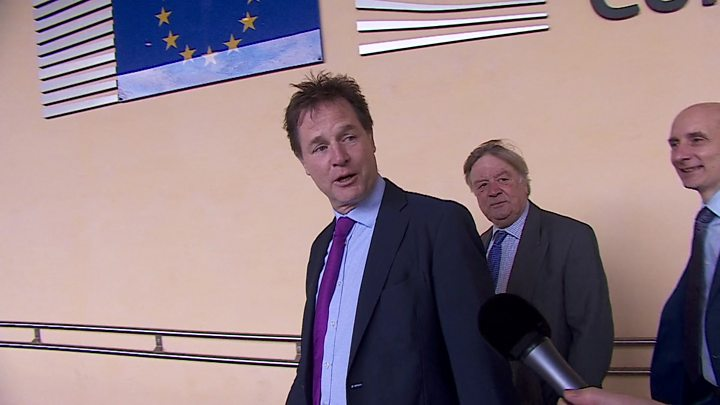 Brexit: Nick Clegg, Ken Clarke and Lord Adonis visit Barnier