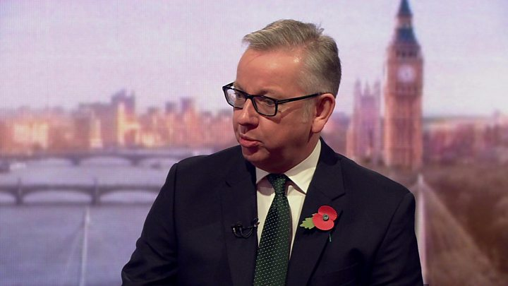 Media playback is unsupported on your device                  Media caption Michael Gove