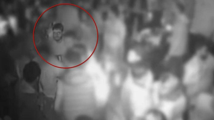 Moment of acid attack in London club