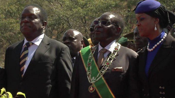 Media playback is unsupported on your device                  La gaffe de trop qui contraint Mugabe à une sortie par la petite porte