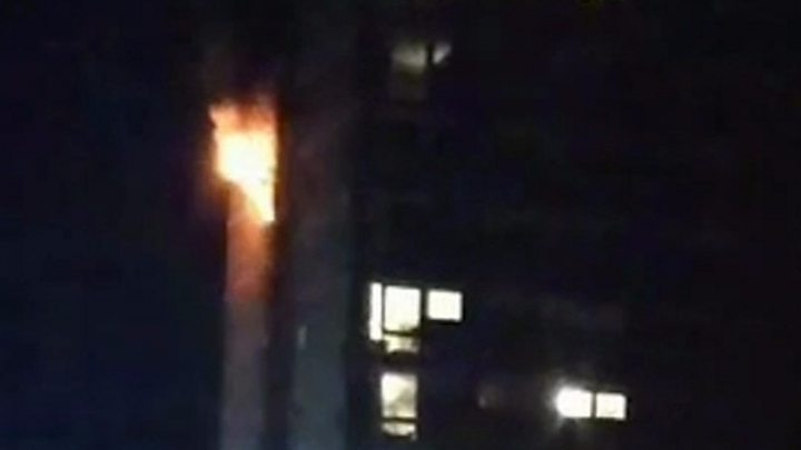 Firefighters praised for preventing deaths after high-rise fire in Belfast