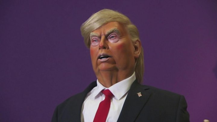 Donald Trump S Spitting Image To Go On Show Bbc News