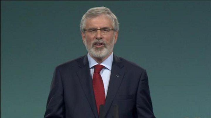 Gerry Adams to stand down as Sinn Féin leader next year