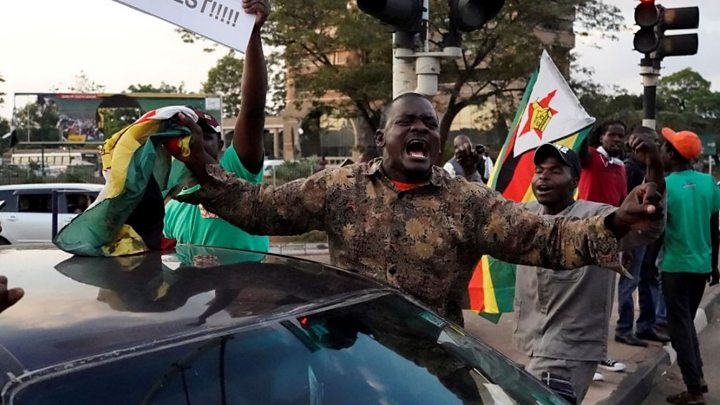 Scenes of jubilation on the streets of the capital