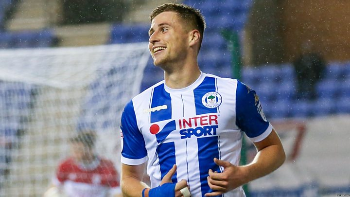 Wigan player scores double before being subbed off for baby's birth