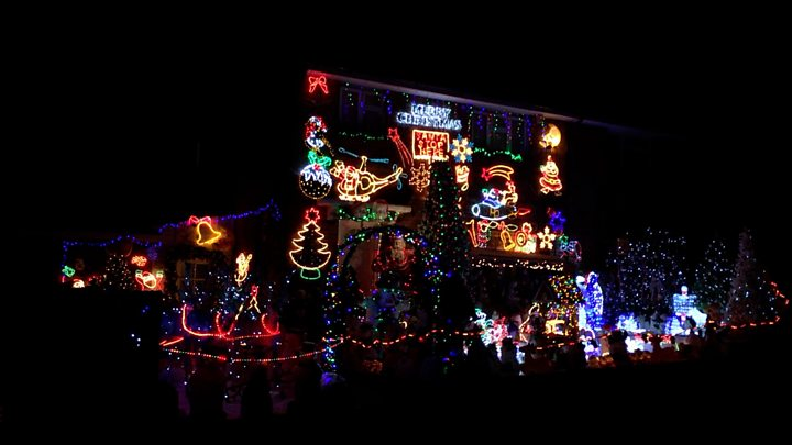 Christmas Lights.The House Where Santa Would Live