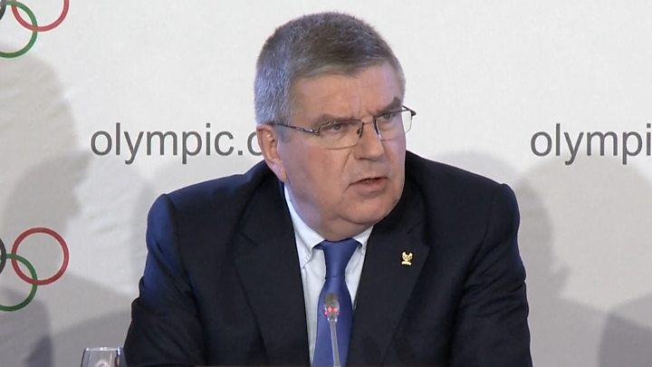 The national team of Russian Federation  was suspended from the Olympic games