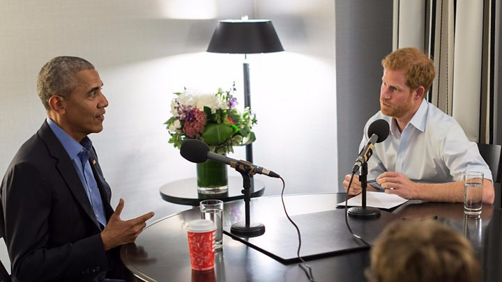 Britain's Prince Harry scores radio interview with former US President Obama