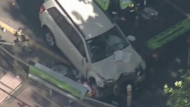 Melbourne crash: Driver arrested after hitting pedestrians