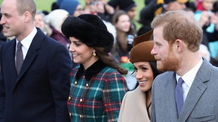 Meghan Markle joins royals for Christmas service