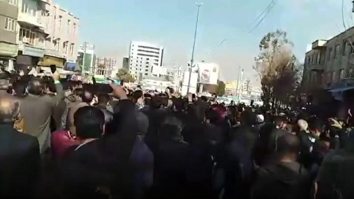 Iranians protest against high prices in Mashhad