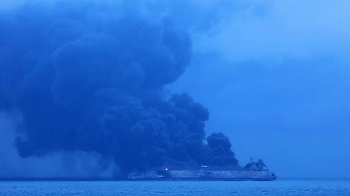 Crew missing after Iranian tanker hits freighter