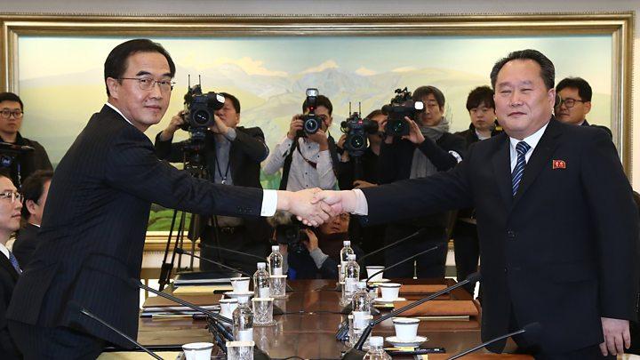 North and South Korea Meeting