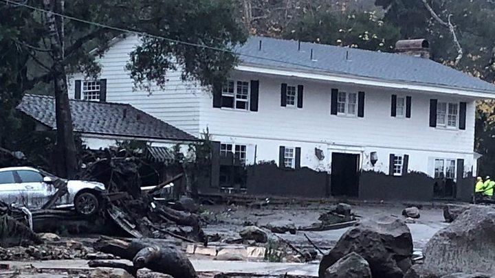 California: Rescuers search for mudslide survivors