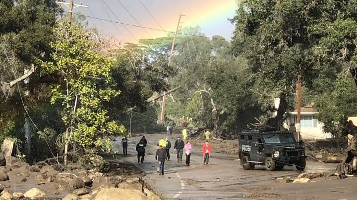 California: Thirteen dead in Montecito rains and mudslides