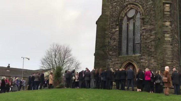 Mourners in pink tribute to tragic Aldi stabbing victim