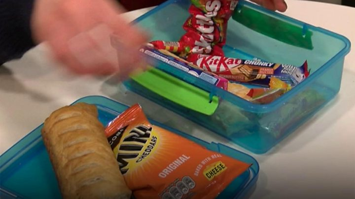 Pupils' school bags searched for unhealthy food
