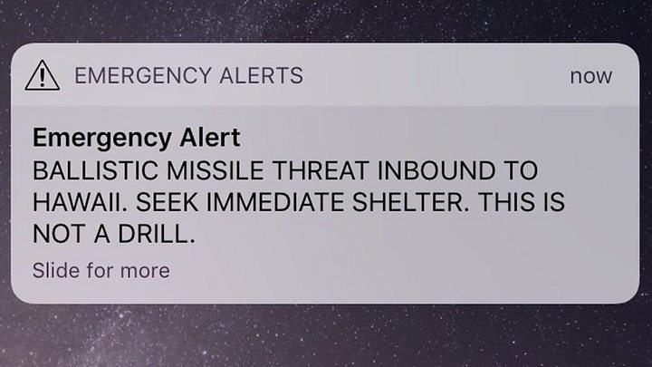 Image result for Hawaii missile false alarm triggers shock, blame and apologies