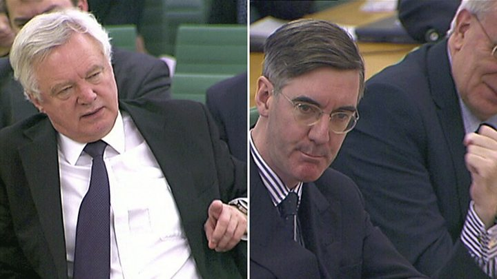 Jacob Rees-Mogg and Philip Hammond at odds over Brexit