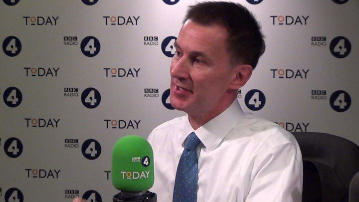 Jeremy Hunt says doctors must be allowed to discuss mistakes