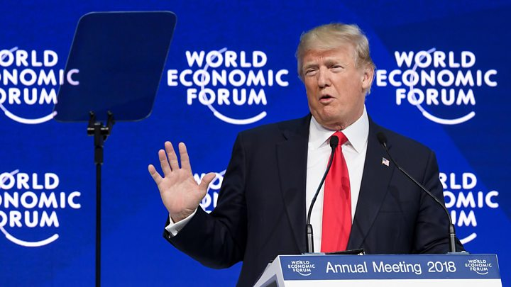 Trump speaks at Davos: 'America First does not mean America alone'