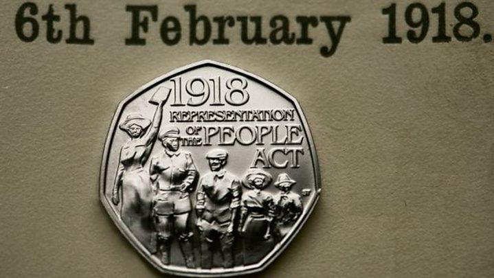 50p coin for women's suffrage struck