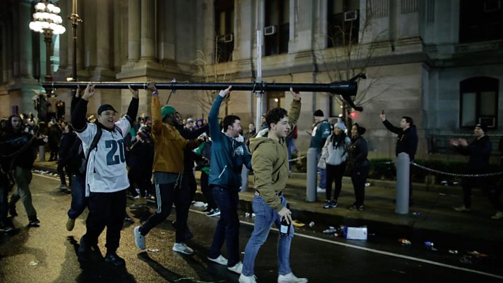 Philadelphia Eagles fans grounded for Super Bowl celebration