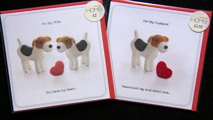 Sainsbury S Husband Valentine Card Pricier Than Wife Bbc News