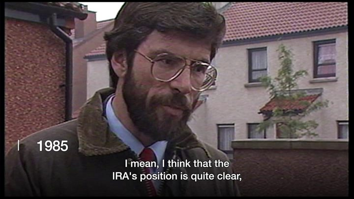 Media playback is unsupported on your device                  Media caption Gerry Adams In his own words