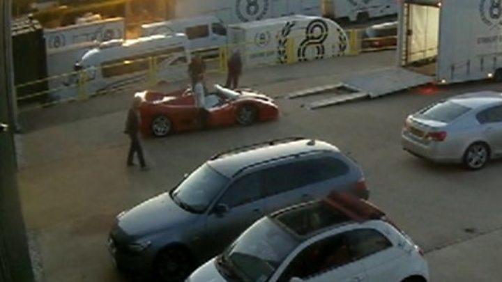 Moment boy gets in Ferrari before crash