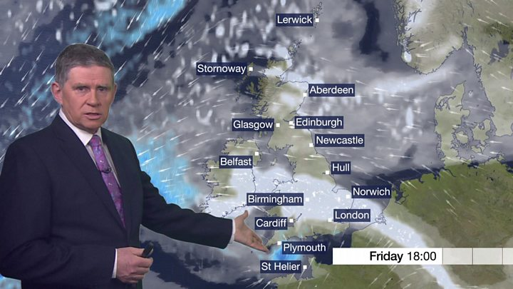 Snow ice and driving winds causing severe disruption bbc news latest bbc weather forecast with phil avery publicscrutiny Choice Image