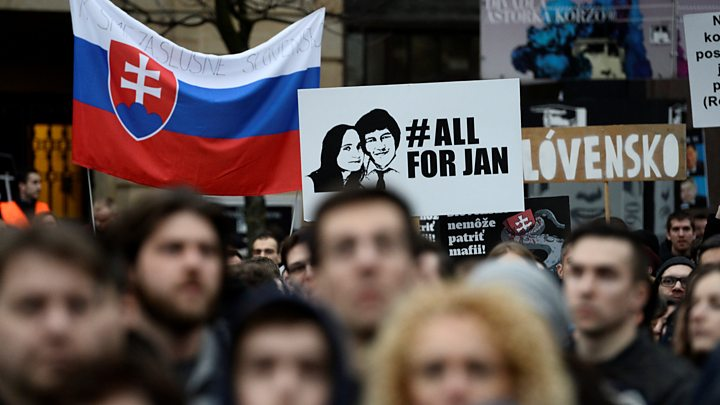 Jan Kuciak: Marches in memory of murdered Slovakia journalist