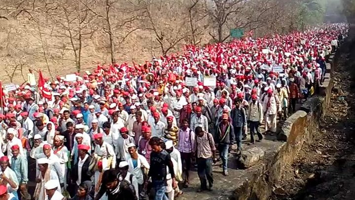 Image result for किसान मुंबई