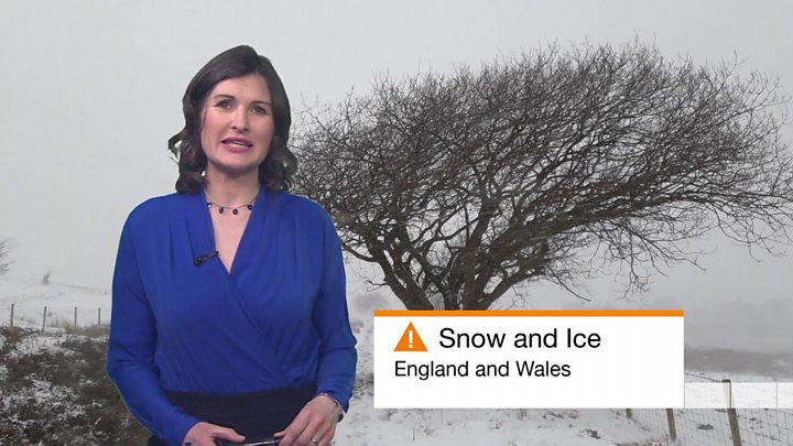 Mini beast from the east brings snow and ice to parts of uk bbc news bbc weathers helen willetts presents the weather forecast publicscrutiny Choice Image