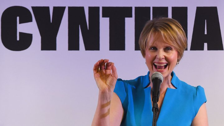 Cynthia Nixon Mocks Trump at NYC Campaign Rally: 'Sad Little Miserable Man'